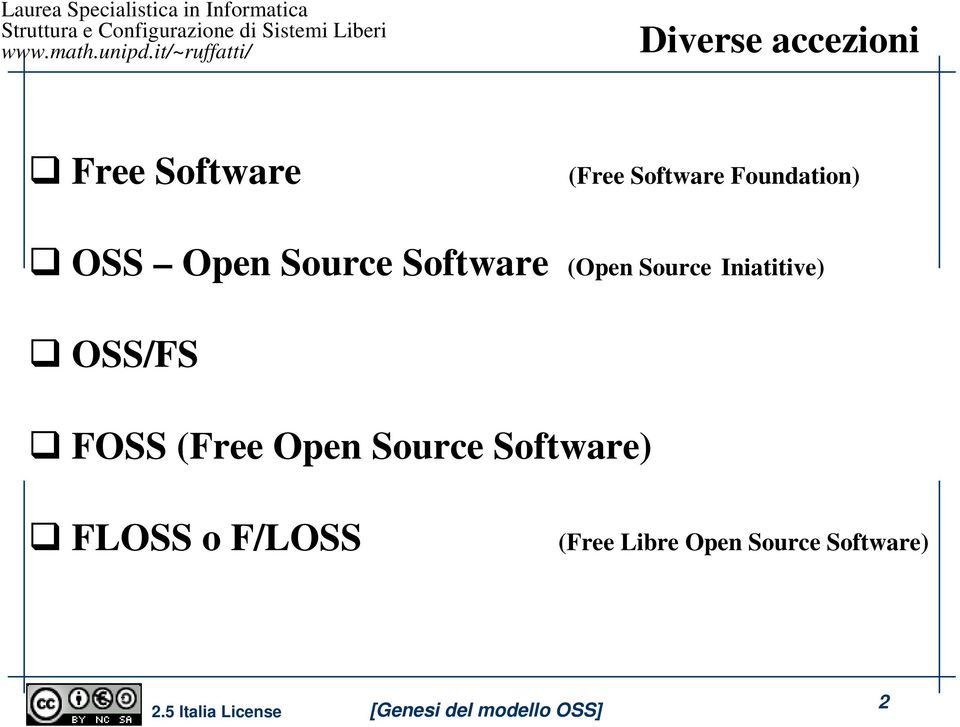 Iniatitive) OSS/FS FOSS (Free Open Source