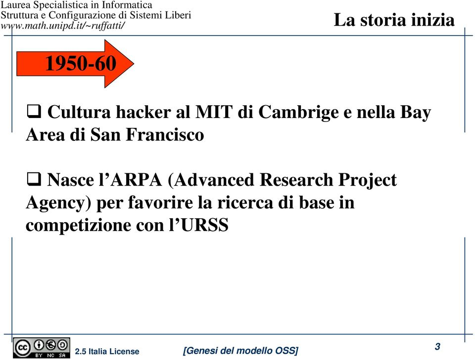 ARPA (Advanced Research Project Agency) per