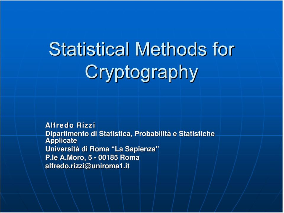 statistical methods help to: Seven different statistical tests and a process by which you can decide which to use if this video helps you, please donate by clicking on:.