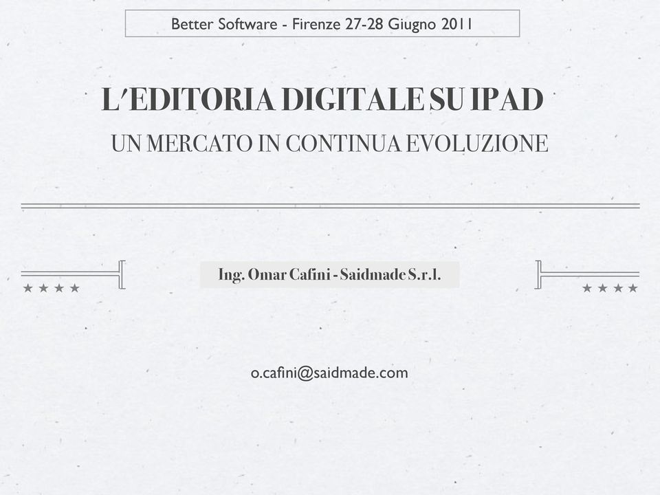 DIGITALE SU IPAD UN MERCATO IN