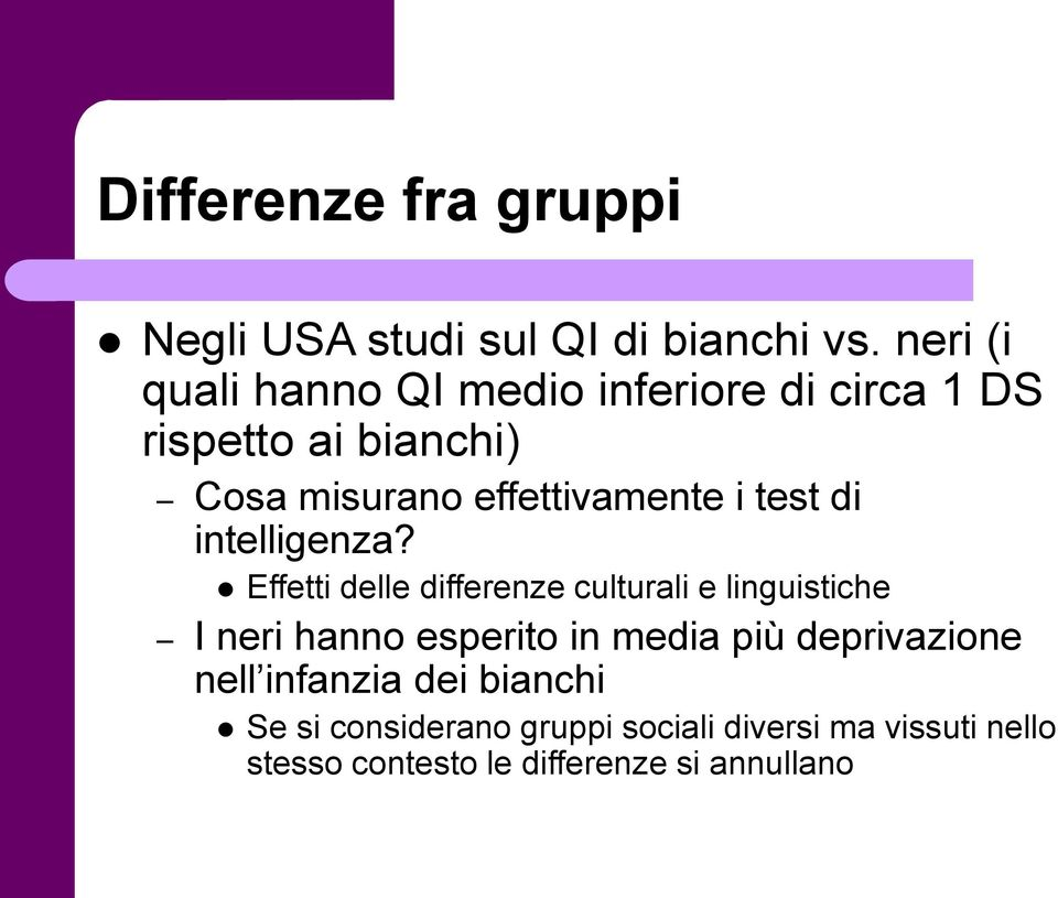 i test di intelligenza?