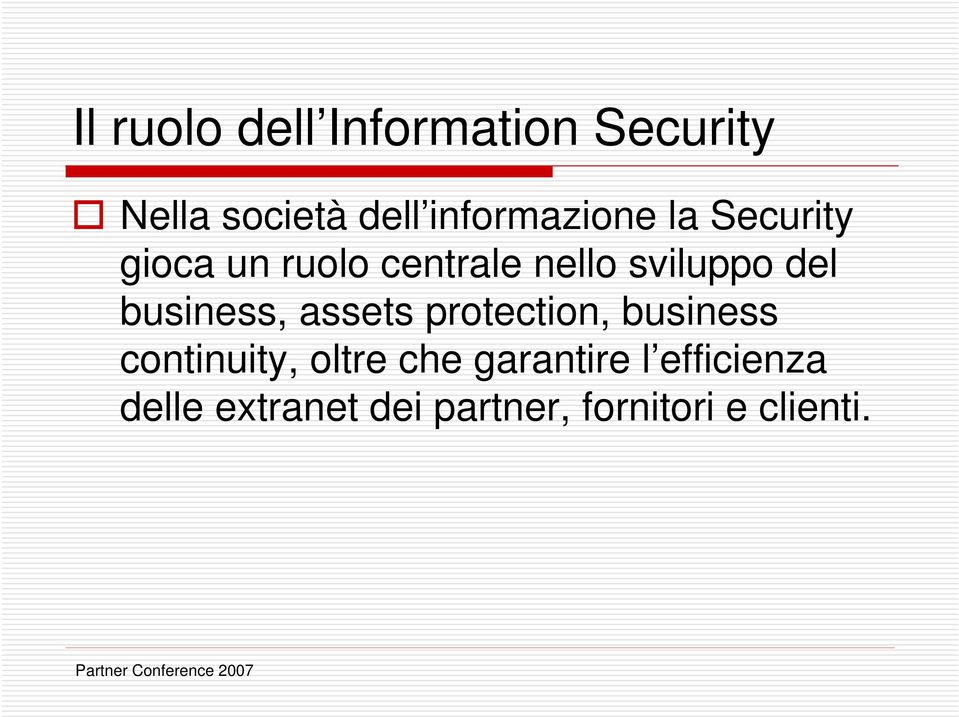 del business, assets protection, business continuity, oltre che