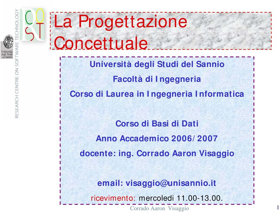 Anno Accademico 2006/2007 docente: ing.