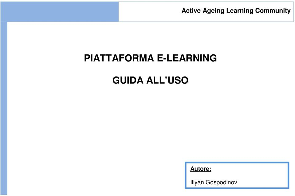 E-LEARNING GUIDA ALL