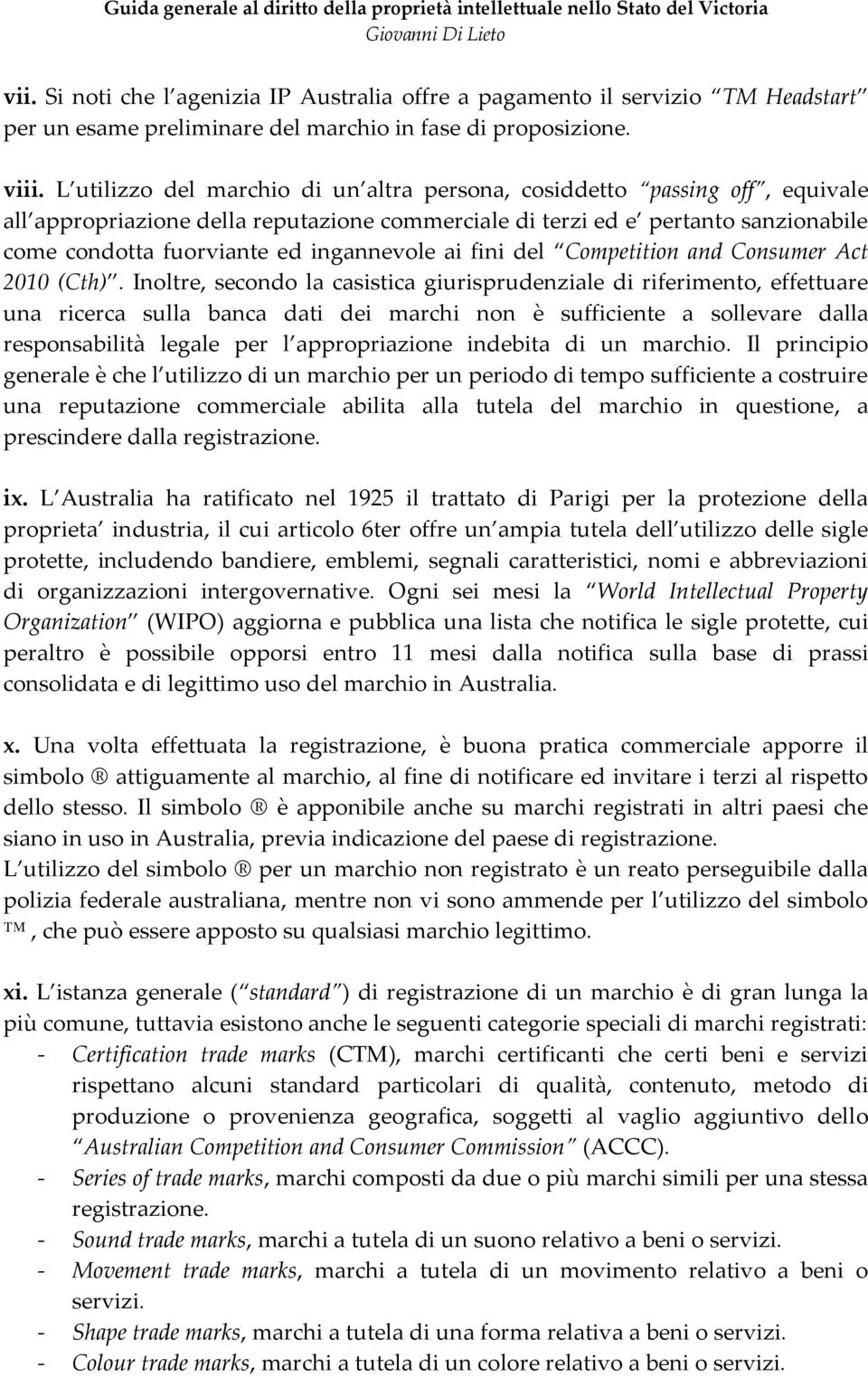ingannevole ai fini del Competition and Consumer Act 2010 (Cth).
