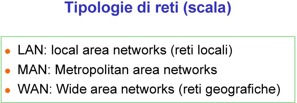 MAN: Metropolitan area networks