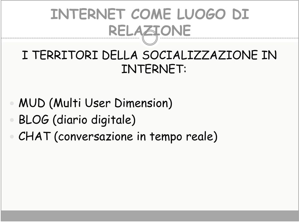 INTERNET: MUD (Multi User Dimension) BLOG