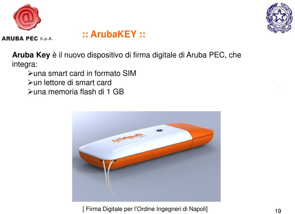 che integra: una smart card in formato SIM