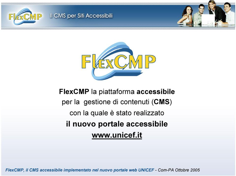 portale accessibile www.unicef.