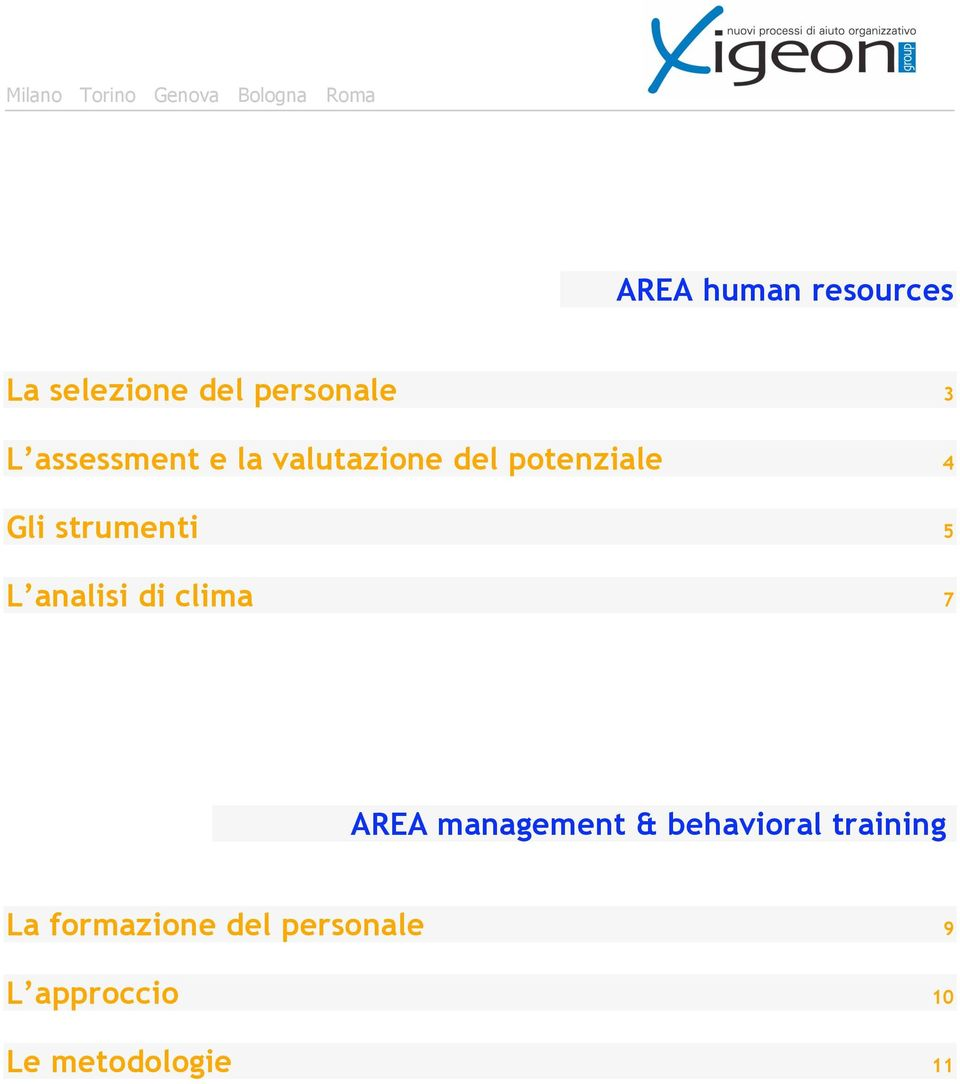 5 L analisi di clima 7 AREA management & behavioral