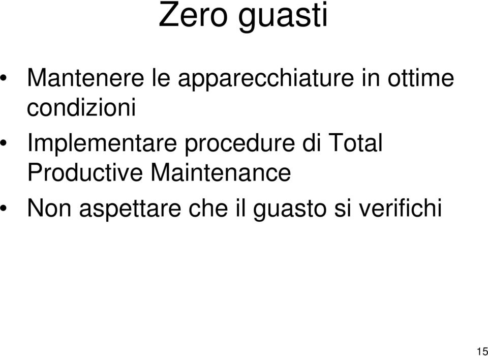 Implementare procedure di Total