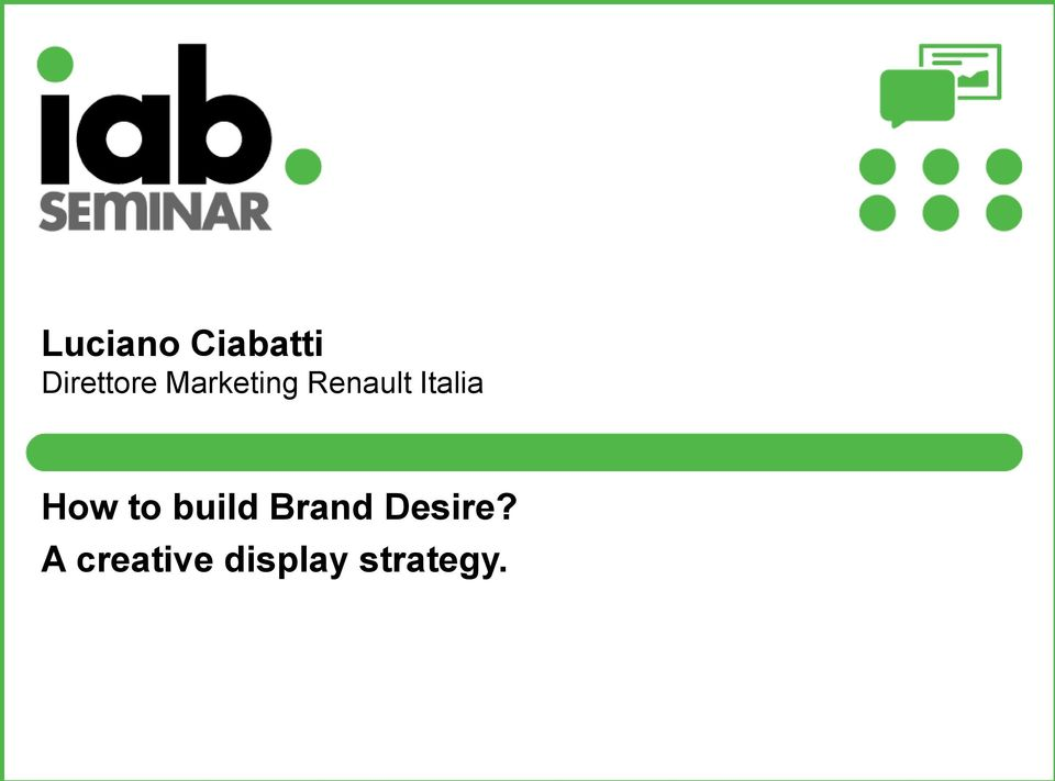 How to build Brand Desire?