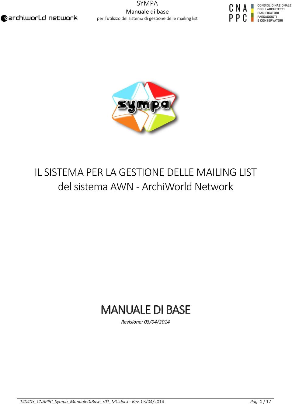 BASE Revisione: 03/04/2014