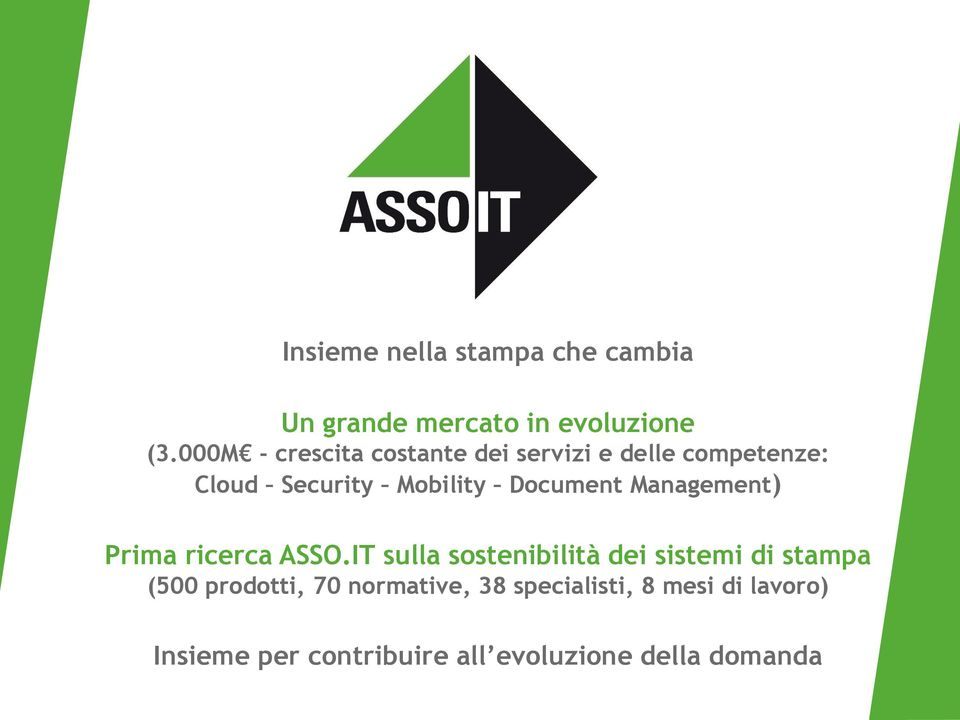 Document Management) Prima ricerca ASSO.