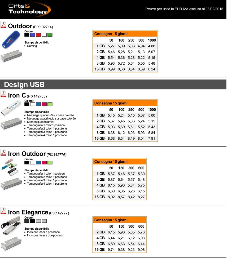 5,12 4 GB 5,93 5,69 5,61 5,52 5,43 8 GB 6,38 6,12 6,03 5,93 5,84 16 GB 8,68 8,34 8,19 8,04 7,91 Iron Outdoor (PIX142776) 1 GB 5,67 5,46 5,37 5,30 2 GB 5,87 5,64 5,57 5,48 4 GB 6,15