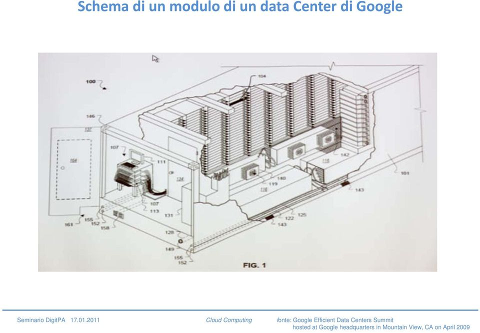 2011 Cloud Computing fonte: Google Efficient Data