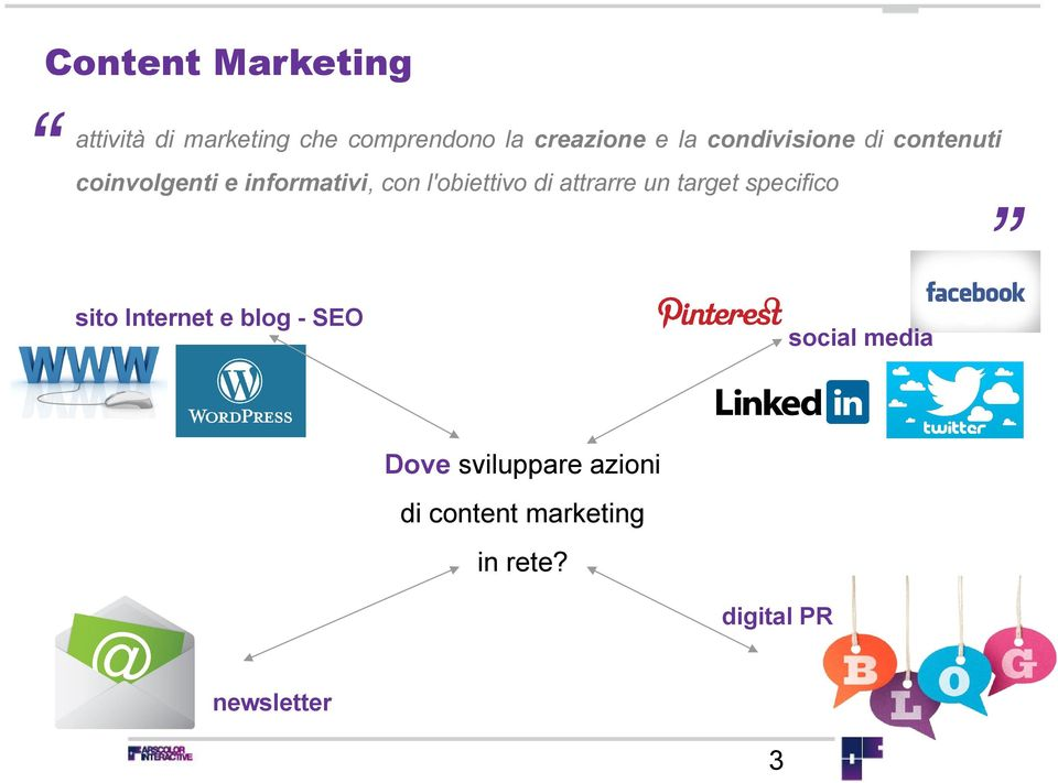 di attrarre un target specifico sito Internet e blog - SEO social media