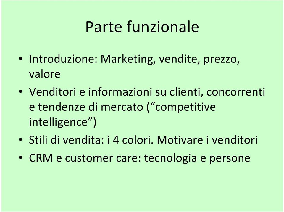 tendenze di mercato ( competitive intelligence ) Stili di