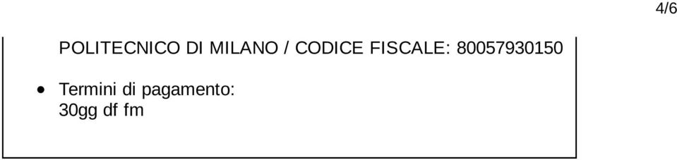 FISCALE: 80057930150