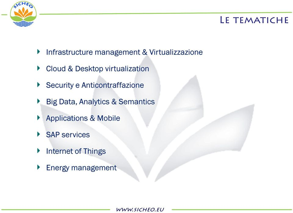 Data, Analytics & Semantics Applications & Mobile SAP services
