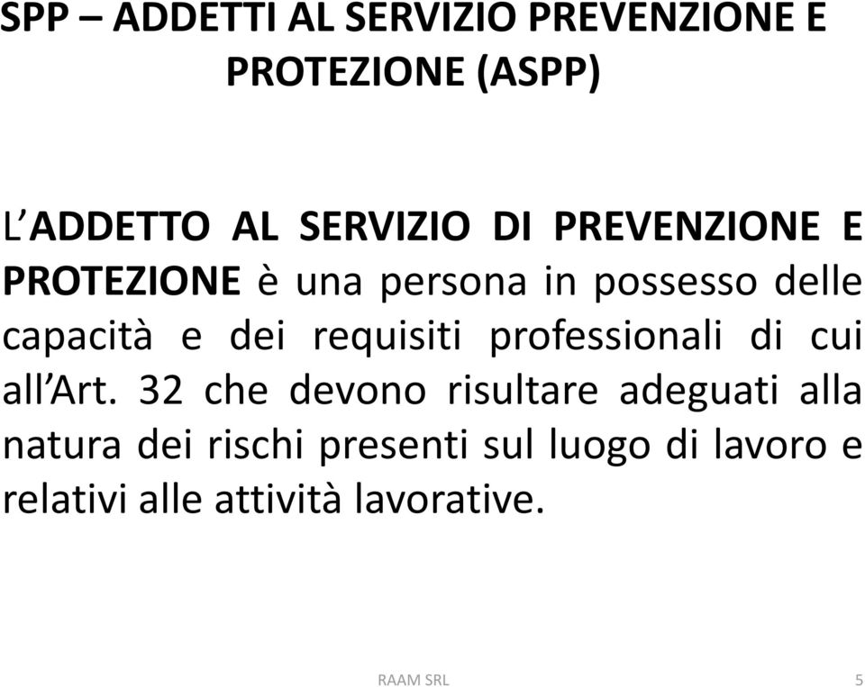 requisiti professionali di cui all Art.