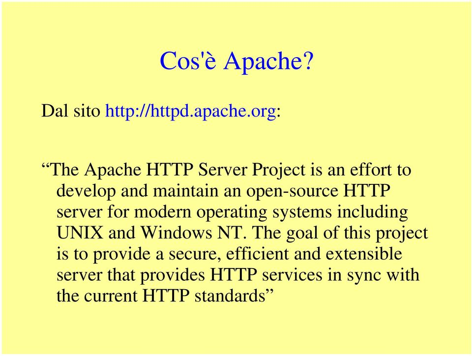 HTTP server for modern operating systems including UNIX and Windows NT.