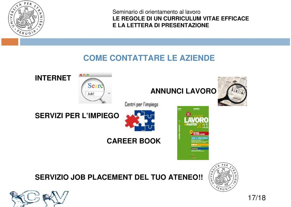 PER L IMPIEGO CAREER BOOK