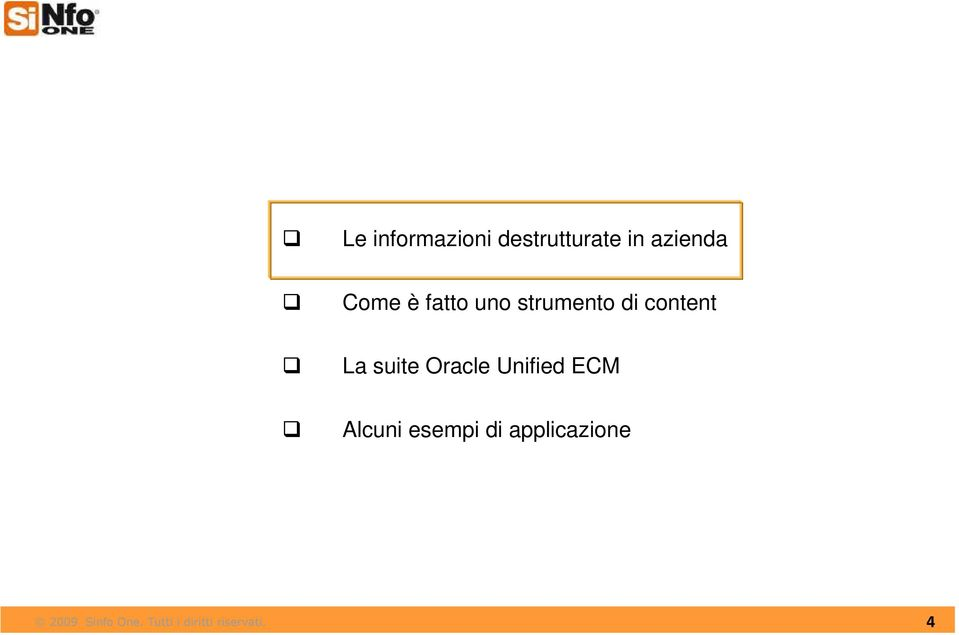 di content La suite Oracle Unified