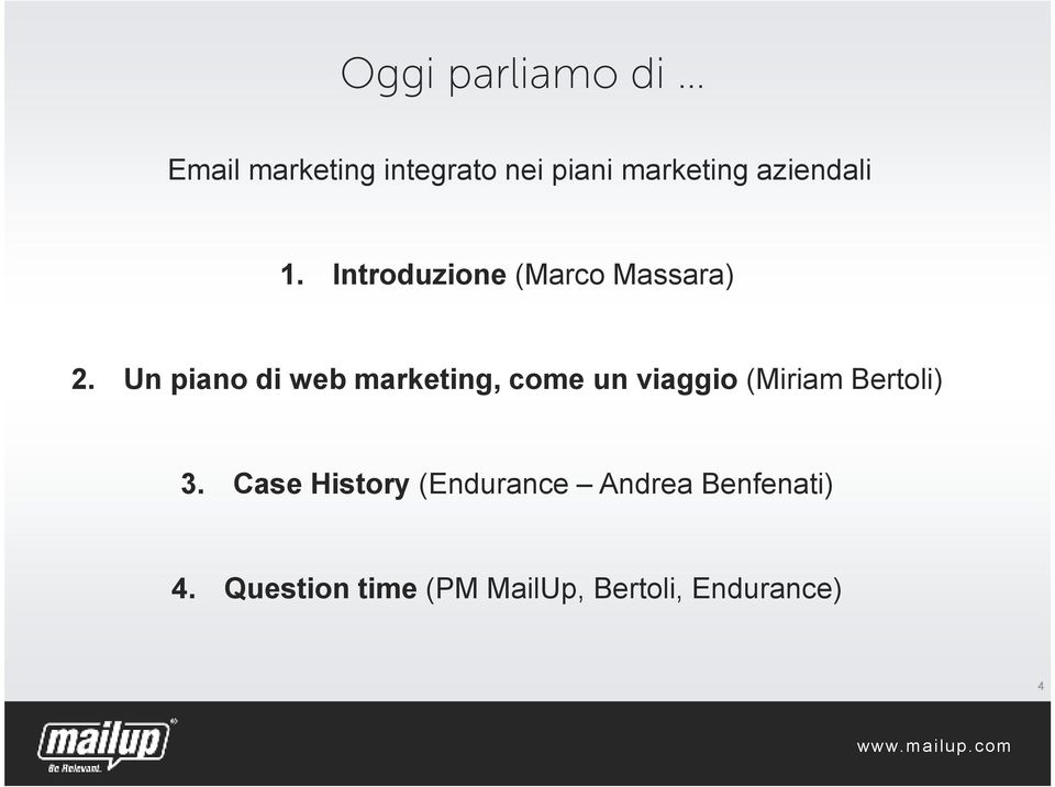 Un piano di web marketing, come un viaggio (Miriam Bertoli) 3.
