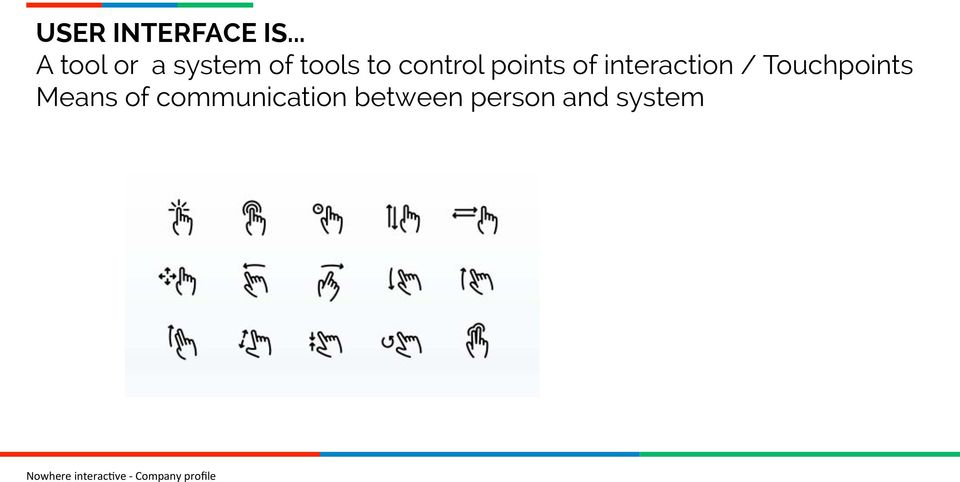 control points of interaction /