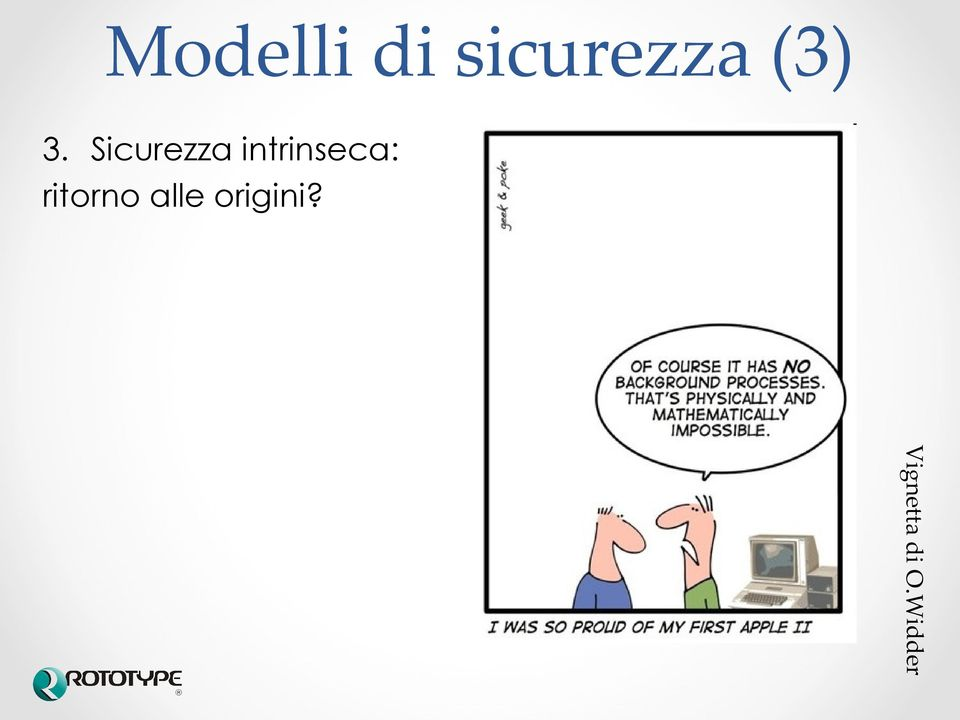 Sicurezza intrinseca: