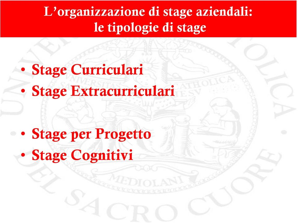 Stage Curriculari Stage