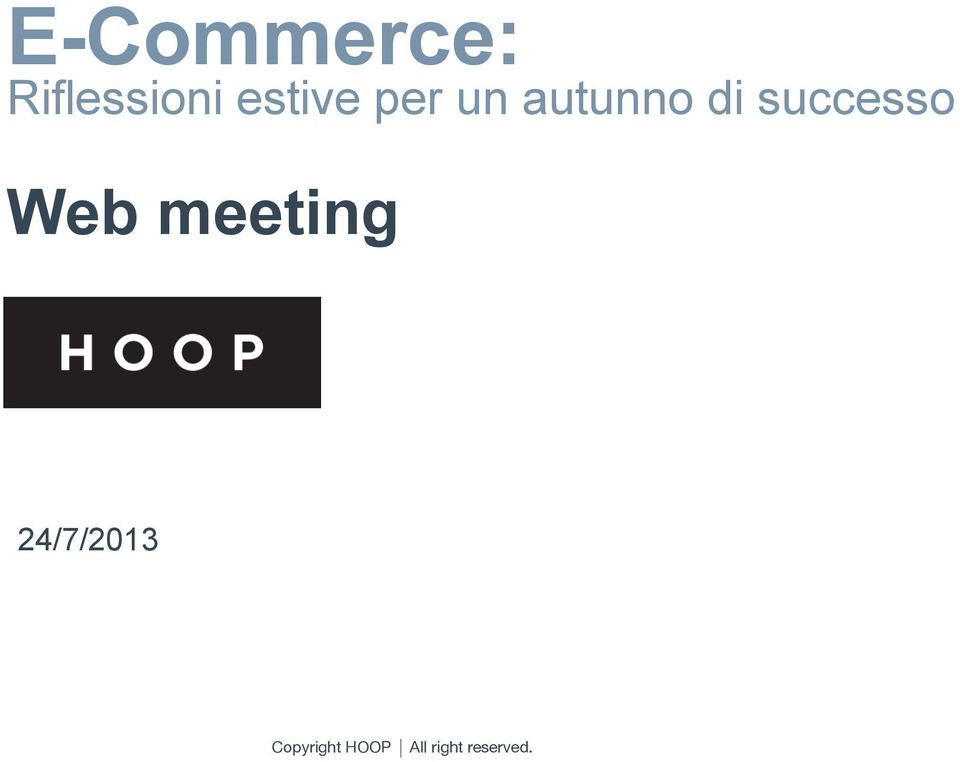 successo Data Referente Web meeting