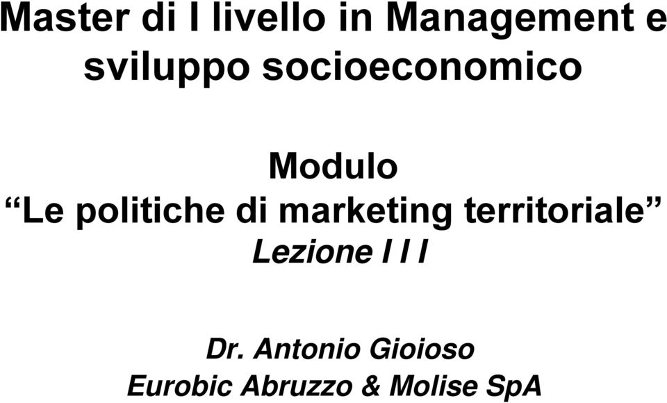 politiche di marketing territoriale