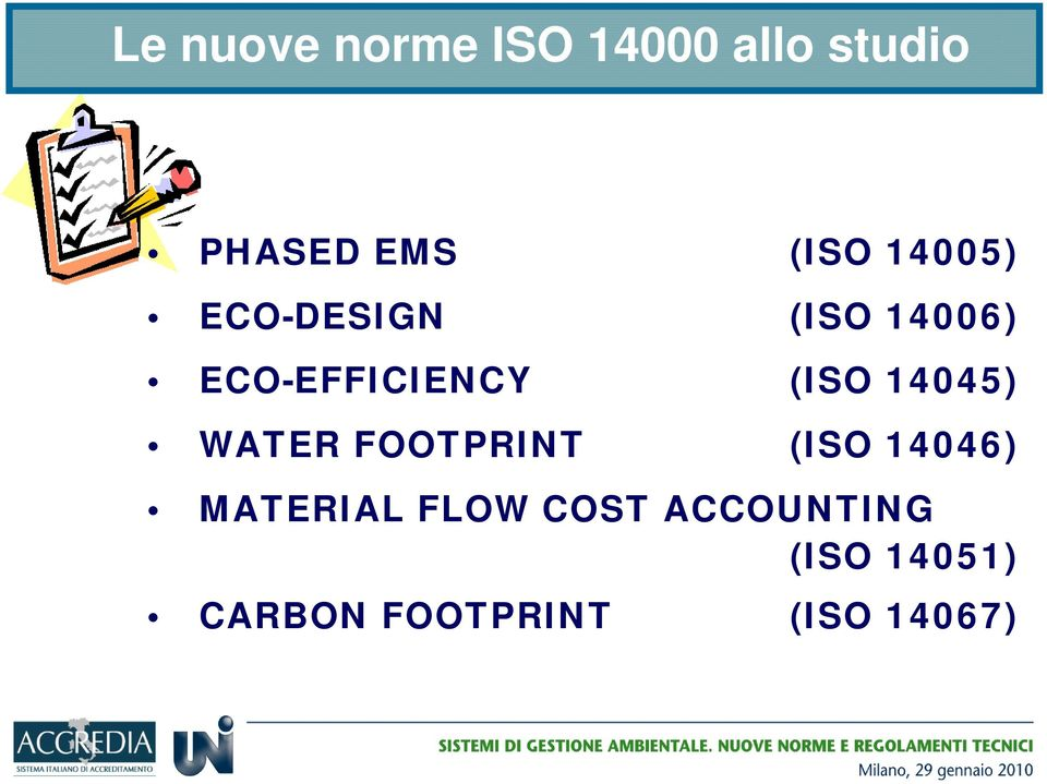 (ISO 14045) WATER FOOTPRINT (ISO 14046) MATERIAL