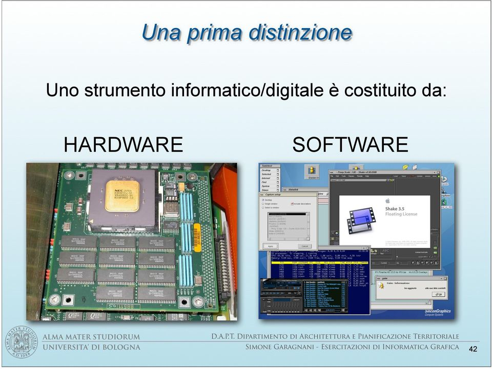 HARDWARE SOFTWARE UNIVERSITA DI BOLOGNA