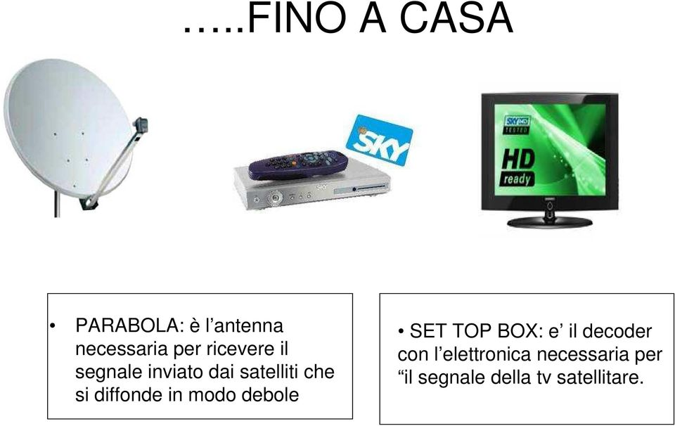 diffonde in modo debole SET TOP BOX: e il decoder con