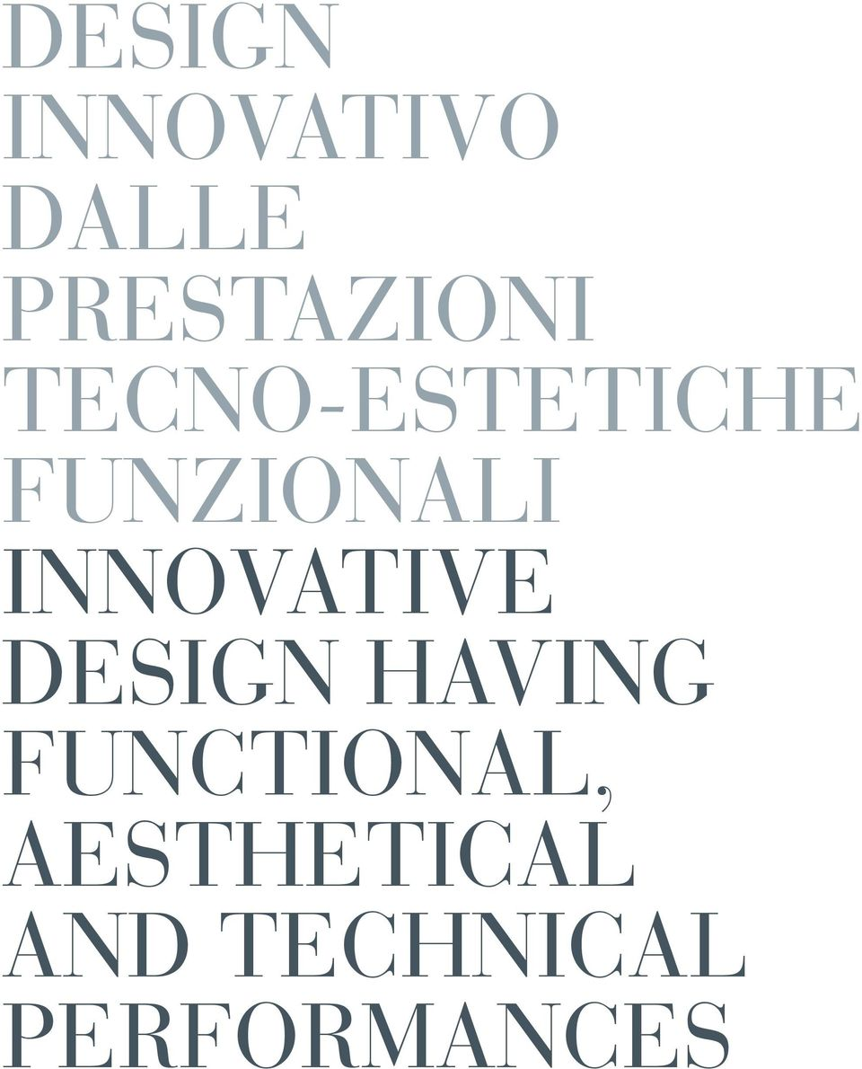 FUNZIONALI INNOVATIVE DESIGN