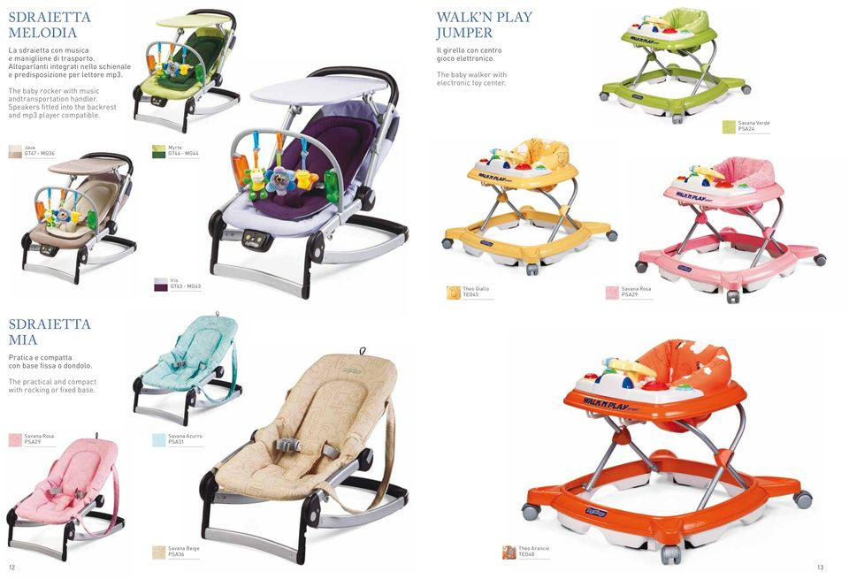 WALK N PLAY JUMPER Il girello con centro gioco elettronico. The baby walker with electronic toy center.