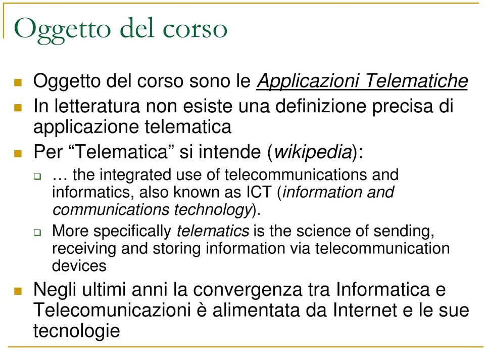 and communications technology).
