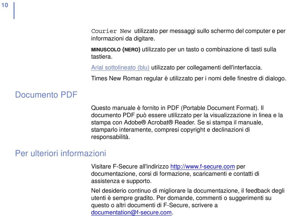 Documento PDF Per ulteriori informazioni Questo manuale è fornito in PDF (Portable Document Format).