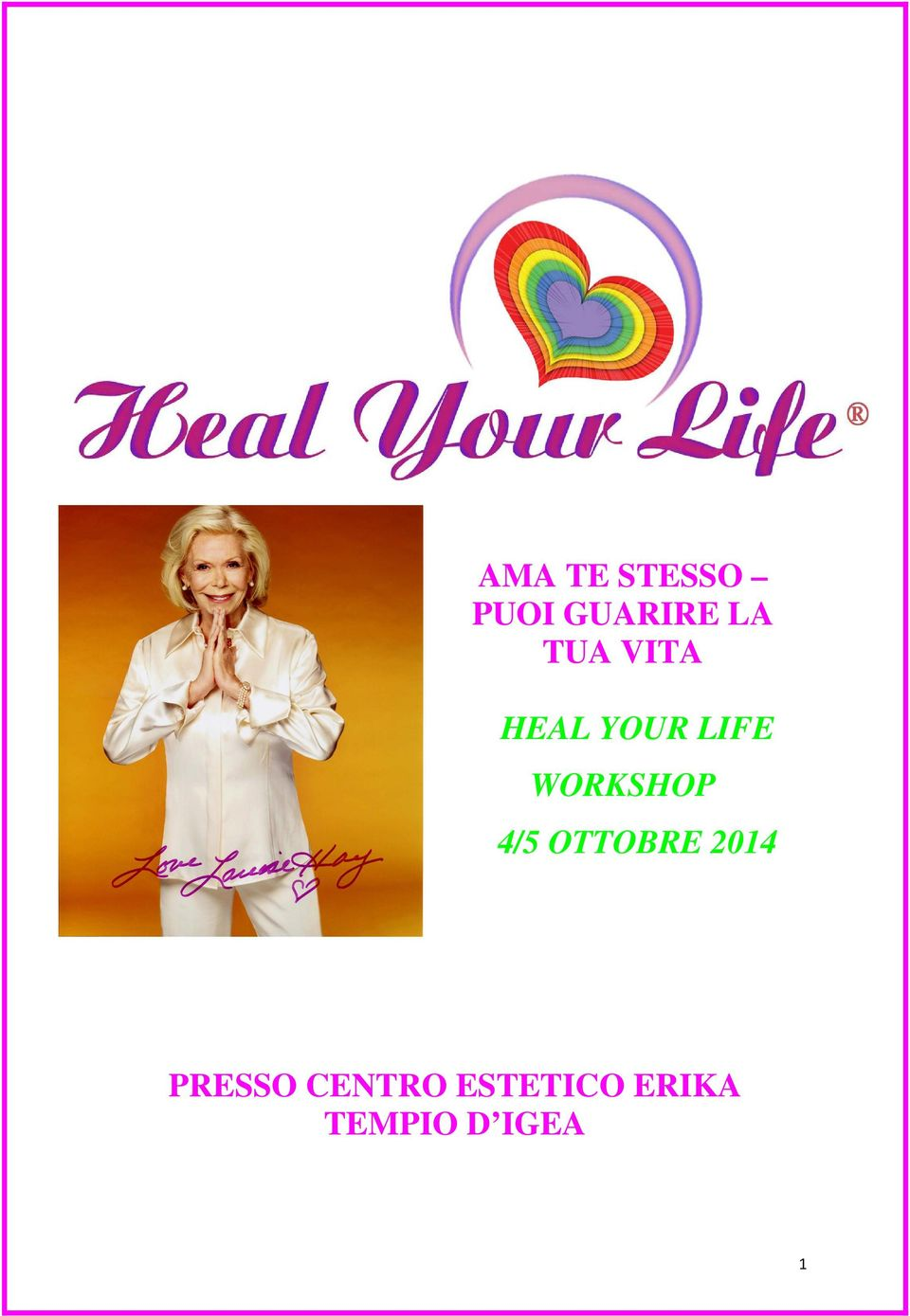 WORKSHOP 4/5 OTTOBRE 2014