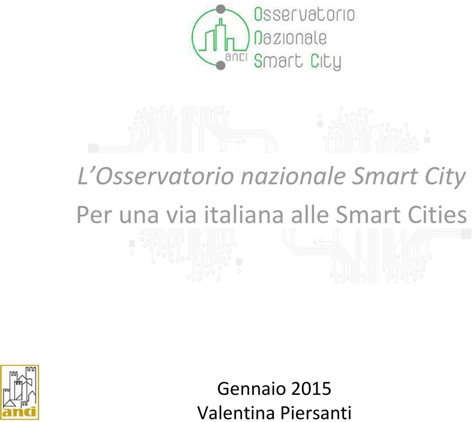 italiana alle Smart Cities