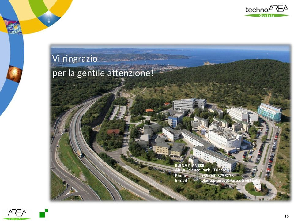 ELENA PIANESE AREA Science Park -