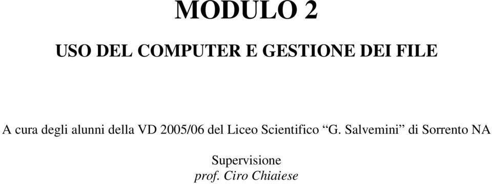 del Liceo Scientifico G.