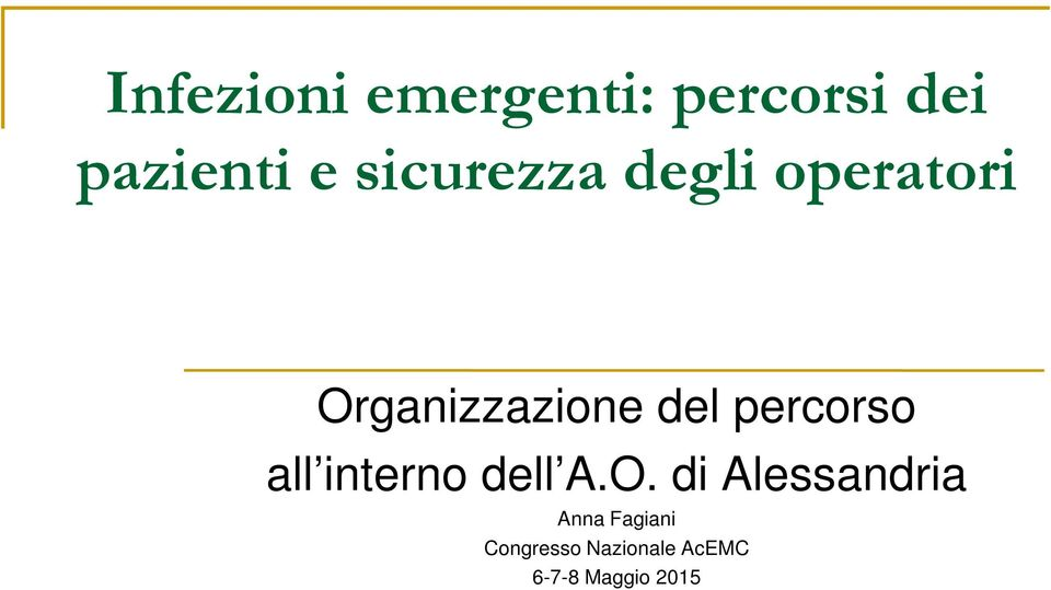 percorso all interno dell A.O.