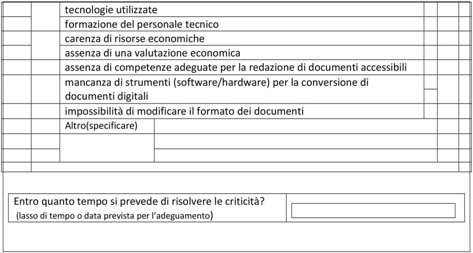 (software/hardware) per la conversione di documenti digitali impossibilità di modificare il formato dei documenti