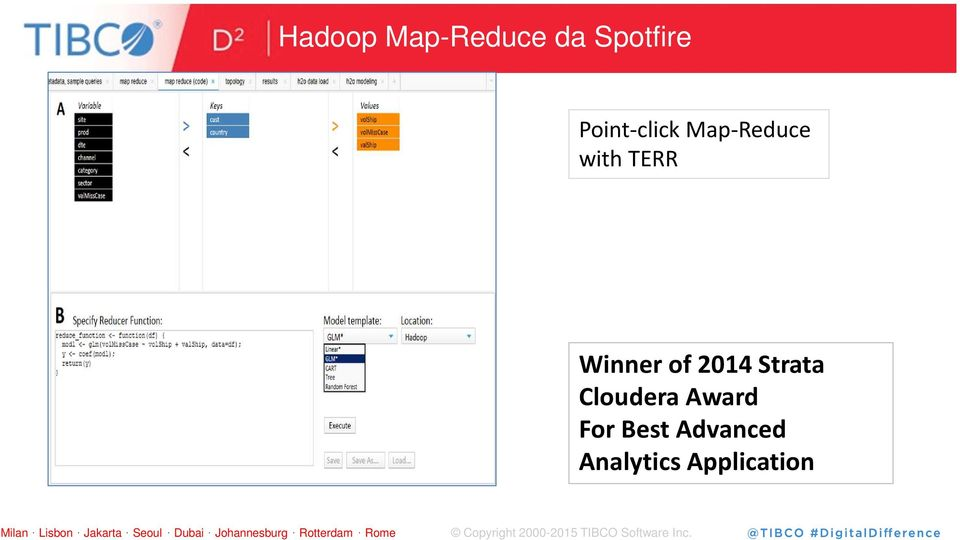 Winner of 2014 Strata Cloudera