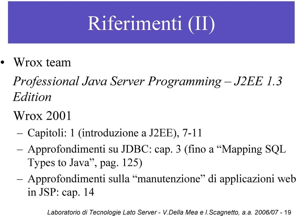 3 (fino a Mapping SQL Types to Java, pag.