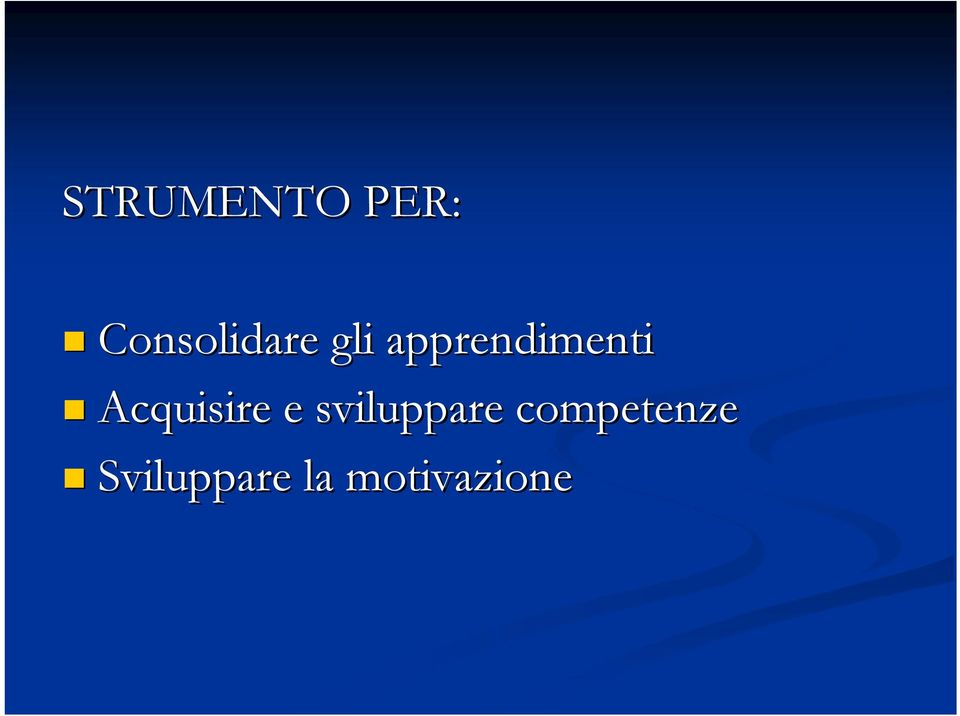 apprendimenti Acquisire e